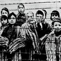 Holocaust survivors after the liberation of Auschwitz in January 1945, left, and Palestinian refugees arriving in Jordan in 1969.