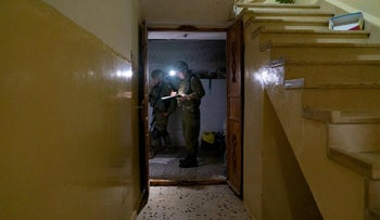 Soldiers on an 'intelligence mapping' operation in the Nablus area, last year.