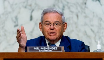 Chairman Sen. Robert Menendez, D-N.J., speaks during a Senate Foreign Relations budget hearing on Capitol Hill, in Washington, two weeks ago.