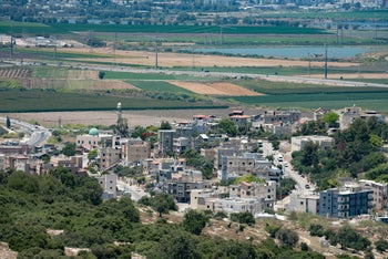 One of the areas near Haifa where a nature reserve is planned to be built, east of Haifa, Israel.