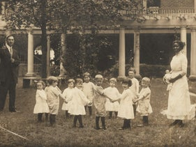 A Jewish orphanage in New Orleans, circa 1915.