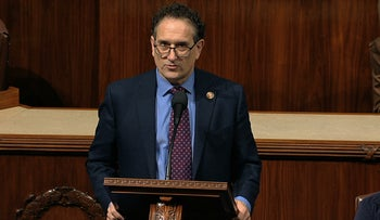 Democratic Rep. Andy Levin speaking on Capitol Hill in 2019.