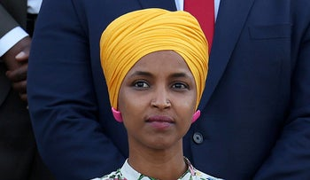 Ilhan Omar outside the U.S. Capitol in Washington two weeks ago.