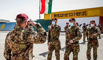 The last Italian troops withdrawing from Afghanistan on Tuesday