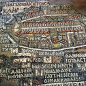 Madaba's portrayal of Jerusalem. The city of Christ's Passion, without a hint of its Jewish past.