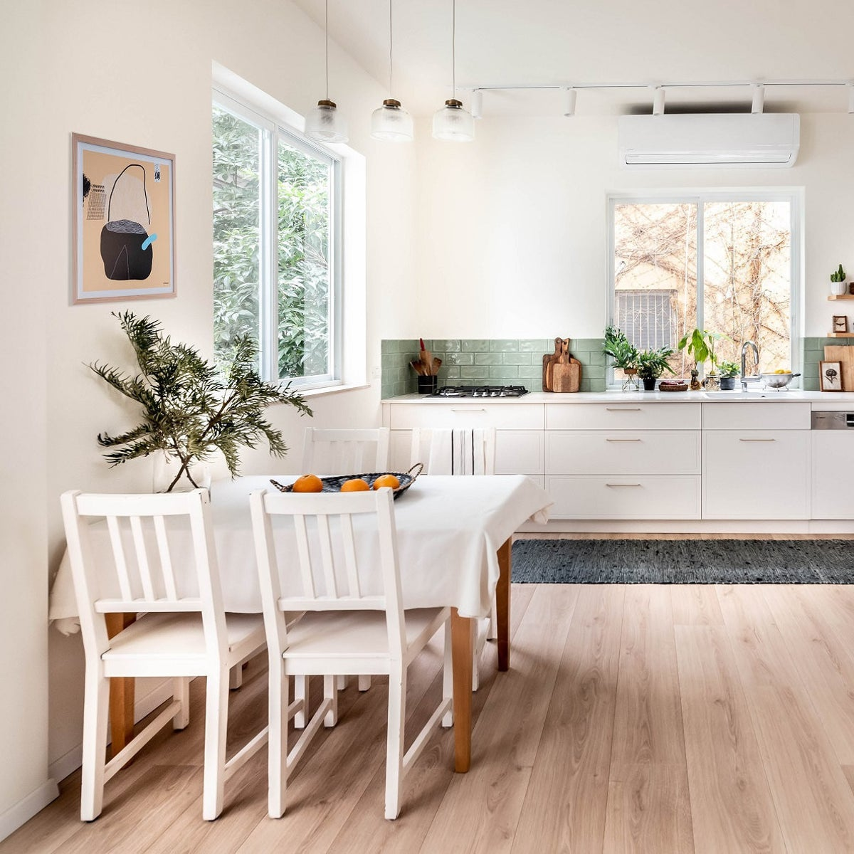 The kitchen, designed by Orit Darom.