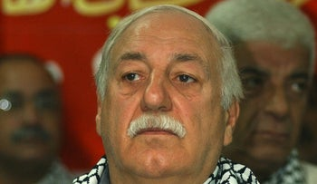 Ahmed Jibril in Beirut, 2002.