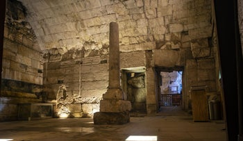 Remains of the magnificent 2000-year-old building recently excavated and due to be opened to the public.