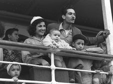 Moroccan immigrants arriving at Haifa Port, in 1954.