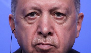 Turkey's President Recep Tayyip Erdogan holds a press conference after the NATO summit in Brussels last month