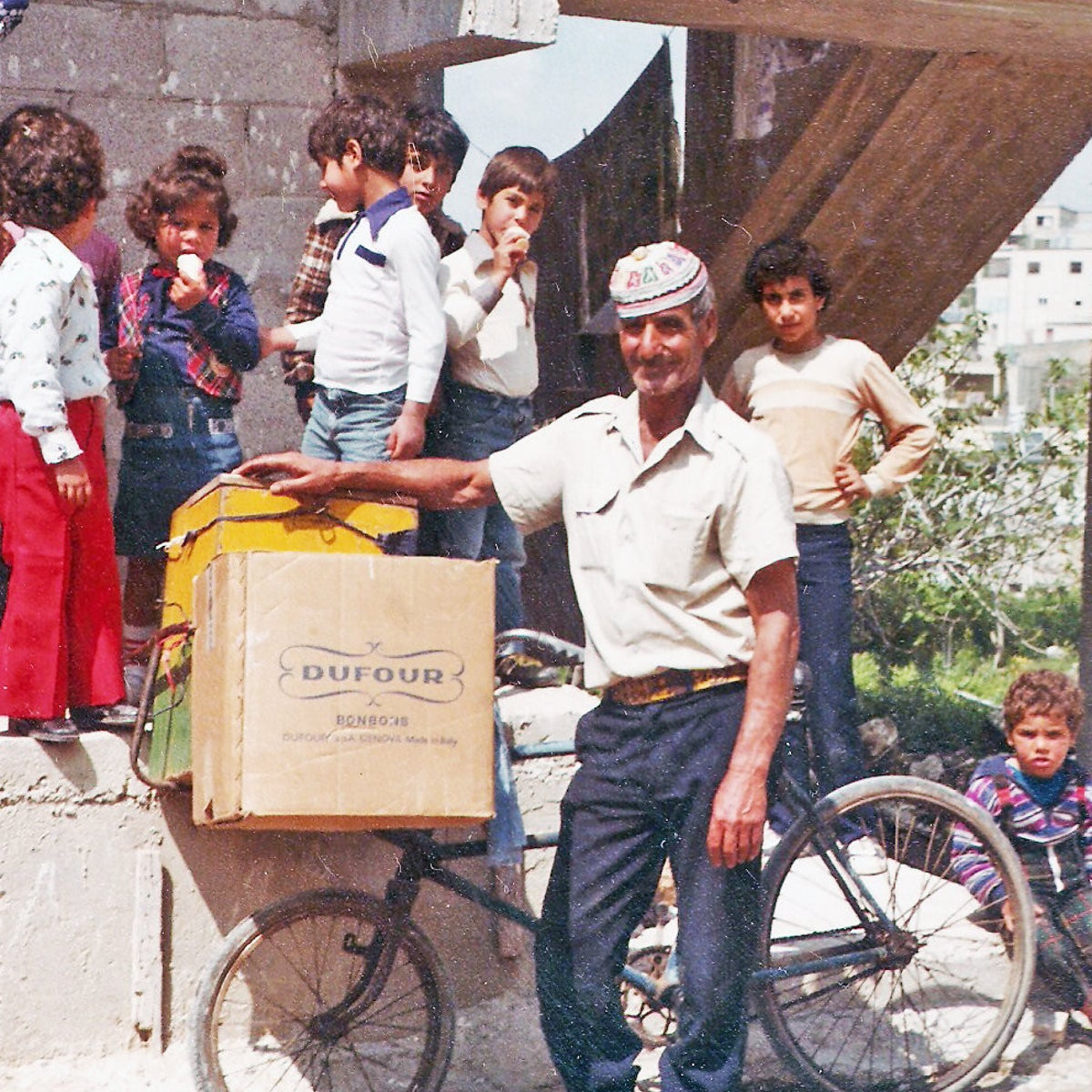 The legendary ice-cream vendor of Tamra. Salam Diab tracked the image down in the United States.