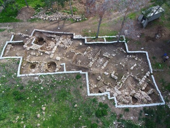 The 3,100-year-old inscription was found near Kiryat Gat, in excavations conducted by the Hebrew University of Jerusalem, the Israel Antiquities Authority and Macquarie University, Sydney