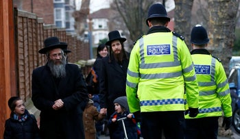 Members of the Jewish community in north London, in 2015.